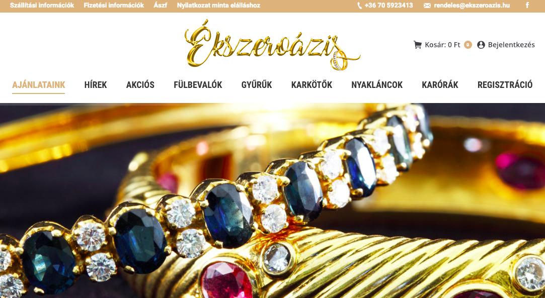 ékszer webáruház